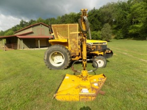 1992 Ford 6640 Industrial-type Tractor with Alamo Hydraulic Side Mounted Mower, Shows 1148 Hours, Serial # 18716