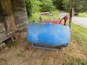Blue Fuel Tank w/ Pump-Hand