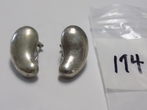 Pair of Tiffany & CO.™ Elsa Peretti designed Chili Pepper Clip-on Earrings which Weigh 8.9 Grams and are in Excellent Condition.