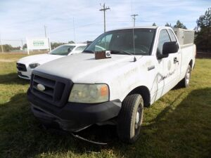 2007 Ford F150 -1FTRF12277NA44133 - Totaled - White - Includes Aluminum Animal Control Dog Box - Lost Title - New Title Applied For