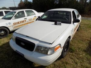 2011 Ford Crown Vic - 2FABP7VB6BX125911 - Starts with a boost - White