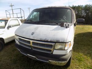 1997 Dodge Van - 2B5WB35Z9VK516546 - Starts with a boost - White