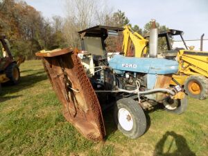 Ford 6610 Tractor w/Side Mounted Mower - 4864 Hrs.