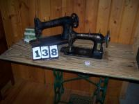 (2) sewing machines and table