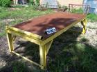 4x8 steel work table 28'' high